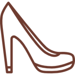 Pantofi cu toc inalt si gros din piele naturala